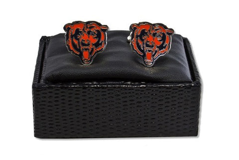 NFL Chicago Bears Silver Cut Out Logo Cuff Links