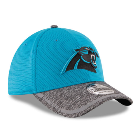 d16bc314aef Mens Carolina Panthers NFL16 On Field Training Camp 39THIRTY Flex Fit New  Era Cap