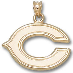 "14K Gold NFL Chicago Bears NFL ""C"" 5/8"" Pendant"