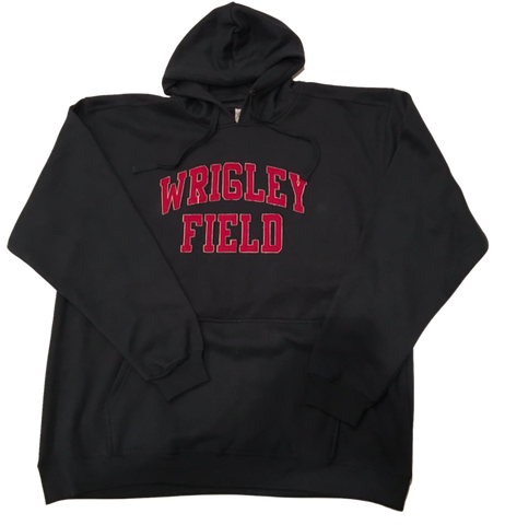 Men's Chicago Cubs Wrigley Field Heavy Weight Pullover Hoodie