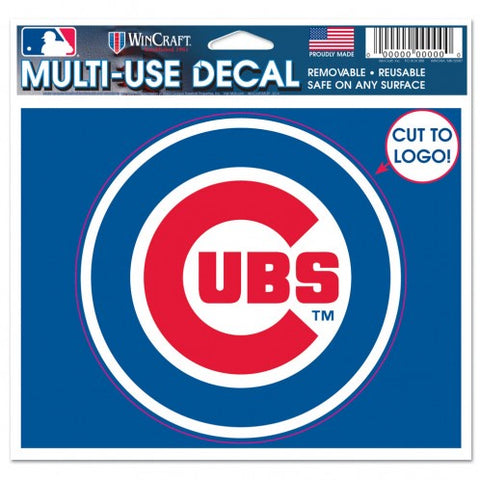 Chicago Cubs 5X6 Bullseye Logo Multi Use Cut To Logo Decal By Wincraft