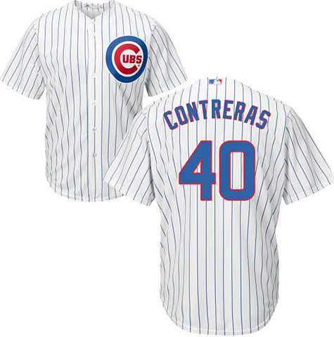 Youth Willson Contreras Chicago Cubs Stitched Replica Home Jersey By Majestic