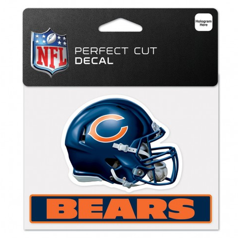 "Chicago Bears  4.5"" X 5.75"" Helmet Ultra Decal By Wincraft"