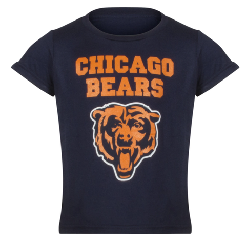 Chicago Bears Youth NFL Secondary Logo Text Short Sleeve T-Shirt