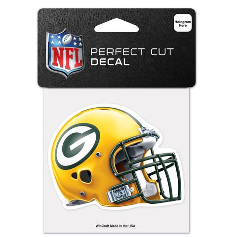 Green Bay Packers Helmet 4X4 Perfect Cut Decal