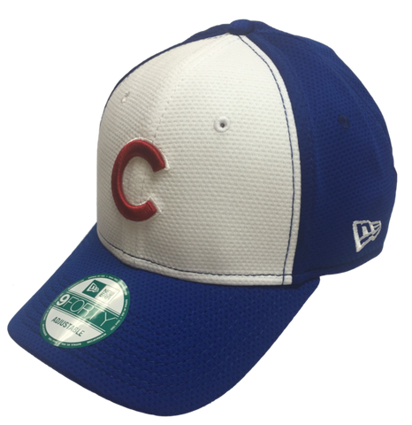 Youth MLB Chicago Cubs White Royal Performance Adjustable Hat By New Era
