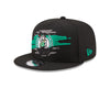 Boston Celtics Logo Tear Black New Era 9FIFTY Snapback Hat