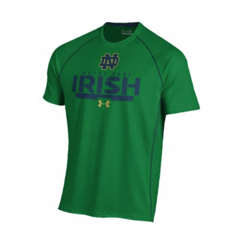 Men's Under Armour Notre Dame Fighting Irish Kelly Green Limitless HeatGear T-Shirt