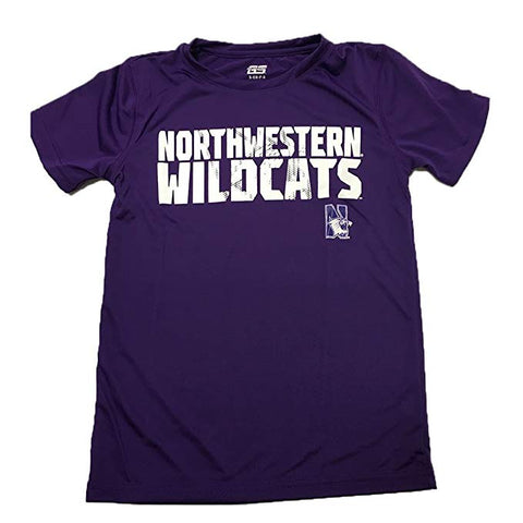 Genuine Stuff Northwestern Wildcats Youth Short Sleeve Razor Shirt
