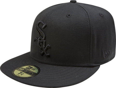 Men's Chicago White Sox New Era Tonal Black On Black 59FIFTY Fitted Hat
