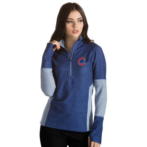 Women's Chicago Cubs Pro 1/4 Zip By Antigua