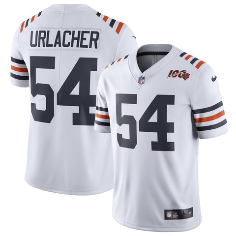 Men's Chicago Bears Brian Urlacher Nike White 2019 100th Season Alternate Classic Retired Player Limited Jersey