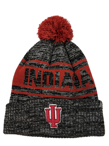 Indiana Hoosiers NCAA Top of the World Sock It 2 Me Cuffed Knit Hat