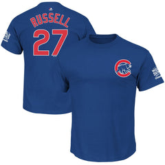 Addison Russell Chicago Cubs Youth World Series Champions Blue Name &  Number T-shirt