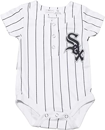 Chicago White Sox Newborn/Infant Cool Base Replica Home Creeper/Jersey