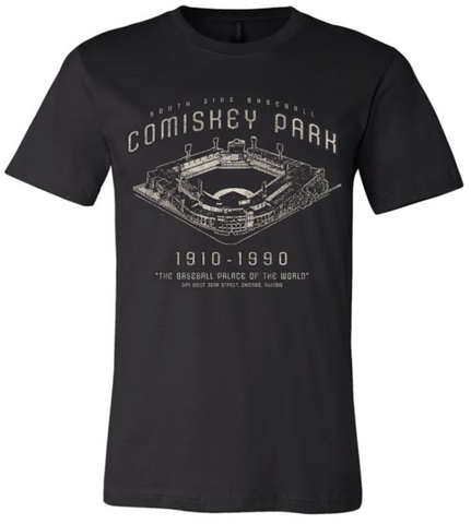Mens Comiskey Park Blueprint Black Tri Blend Tee By Beantown Brand