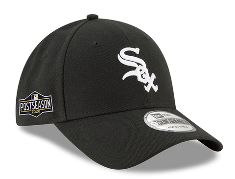 Men's Chicago White Sox New Era Black 2020 Postseason Side Patch 9FORTY Adjustable Hat