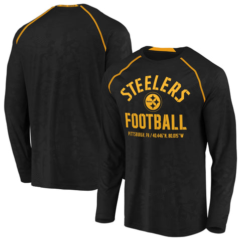 Men's Pittsburgh Steelers Team Destination Long Sleeve Fanatics Performance Tee