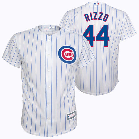 Youth Chicago Cubs Anthony Rizzo White Player Replica Jersey
