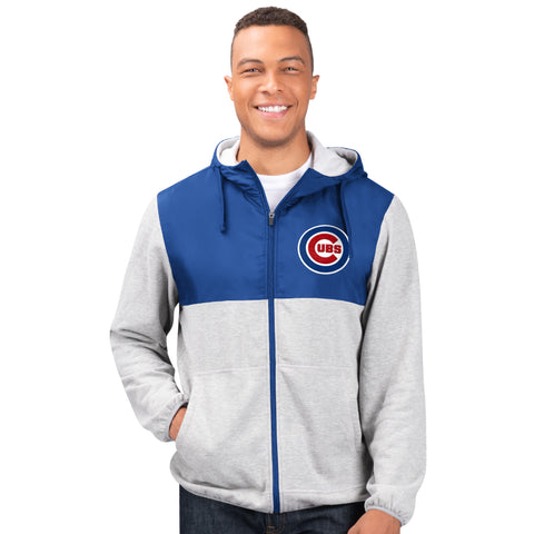 Men's Chicago Cubs Cotton Poly Full-Zip Jacket
