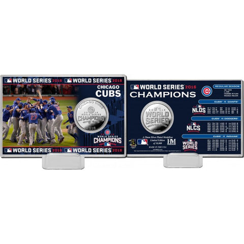 Chicago Cubs 2016 Celebration Silver Coin Card
