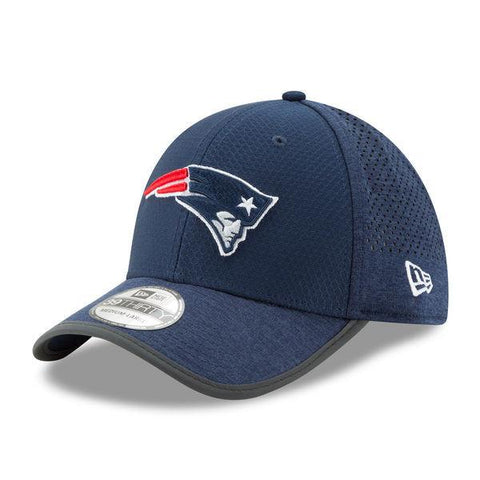 Men's New England Patriots New Era Navy 2017 Training Camp Official 39THIRTY Flex Hat