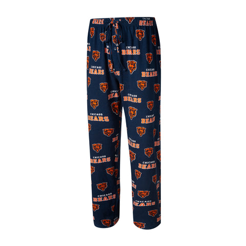 Men's Chicago Bears NFL Navy Offroad Knit Pajama Pants