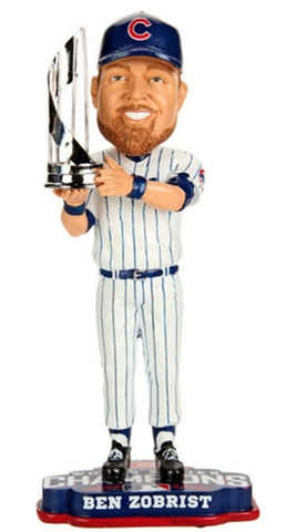 Ben Zobrist Chicago Cubs 2016 World Series Champions MVP Bobblehead