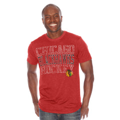 Chicago Blackhawks Blitz Tri Blend Tee