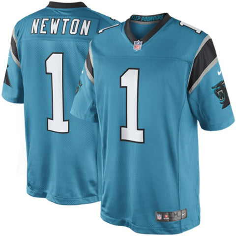 Men's Carolina Panthers Cam Newton Nike Panther Blue Limited Jersey