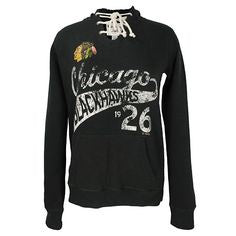 Women's Chicago Blackhawks Slub Lace Hoody