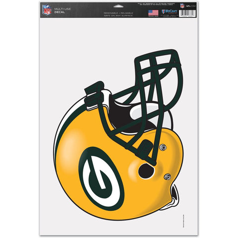 "Green Bay Packers WinCraft 11"" x 17"" Multi-Use Helmet Decal"