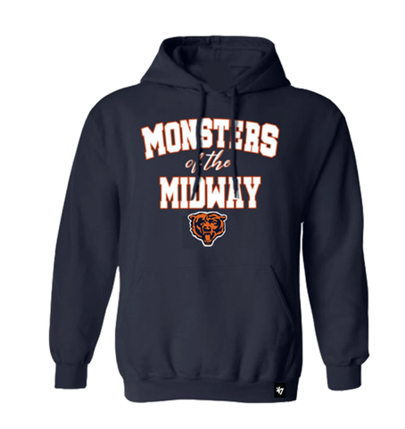 Chicago Bears Men's Navy Monsters of the Midway Hoodie