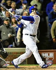 Anthony Rizzo Chicago Cubs 2016 World Series Action Photo