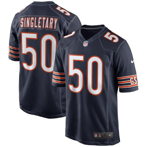 Mens Chicago Bears Mike Singletary Nike Navy Throwback Retired Player Game Jersey