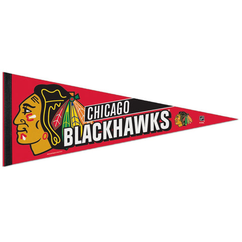 "Chicago Blackhawks Premium Pennant 12"" x 30"" - Pro Jersey Sports"