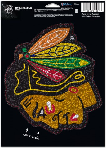 Chicago Blackhawks 5X7 Shimmer Decal