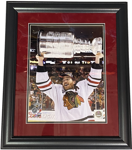 "Chicago Blackhawks Duncan Keith 2013 Stanley Cup 18"" x 21"" Framed Photo"