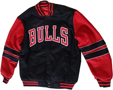 Men's Chicago Bulls Reversible Wool Blend Jacket