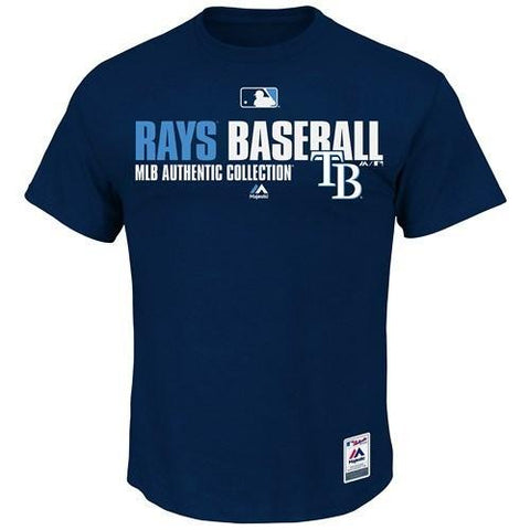 Men's MLB Tampa Bay Rays Navy Authentic Collection Team Favorite T-Shirt