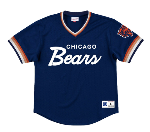 Chicago Bears Mitchell & Ness Mens's Special Script Mesh V-Neck Jersey
