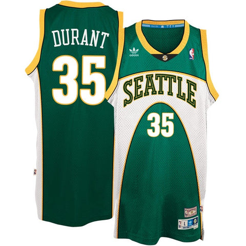 Men's Seattle Supersonics Kevin Durant 07-08 Adidas Hardwood Classics Swingman Jersey