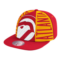 Atlanta Hawks Hardwood Classics Red Big Face Callout Mitchell & Ness Snapback Hat