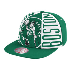 Boston Celtics Hardwood Classics Green Big Face Callout Mitchell & Ness Snapback Hat