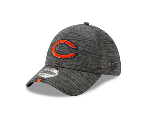 Chicago Bears NFL 2019 Graphite Training Camp 39THIRTY Flex Fit Hat By New Era