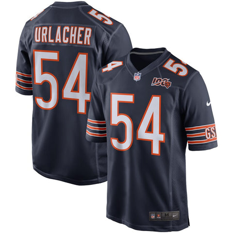 Men's Chicago Bears Brian Urlacher Nike Navy 100th Season Retired Game Jersey