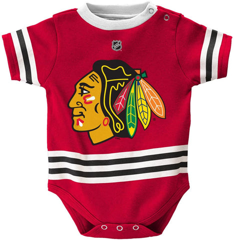 Chicago Blackhawks Baby/Infant Hockey Jersey Style Creeper