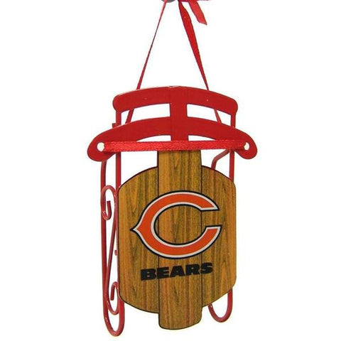 "Chicago Bears Official NFL 3.5"" Metal Sled Christmas Ornament by Topperscot"