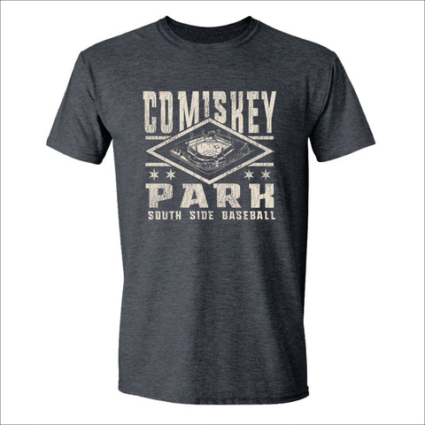 Men's Comiskey Park Heather Charcoal Big Diamond Tee