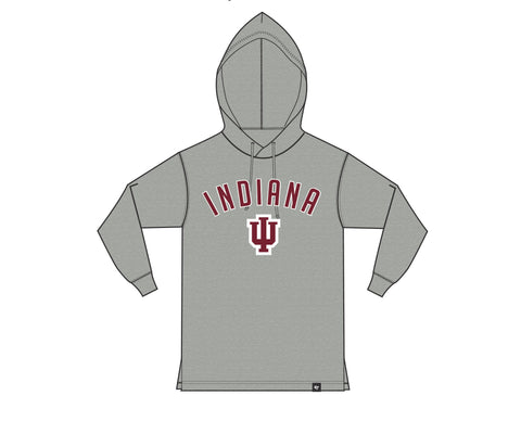 Mens Indiana Hoosiers '47 NCAA Focus Club Hood Long Sleeve T-Shirt